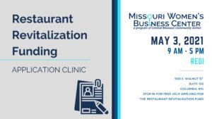 Restaurant Revitalization Funding Application Clinic @ Regional Economic Development Inc.